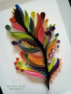Stylised feather quilling