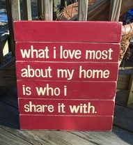 :) I'm blessed to share my Home with My awesome Husband and very awesome son! They are my world
