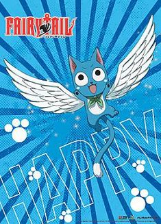 Fairy Tail Wall Scroll - Happy Wings