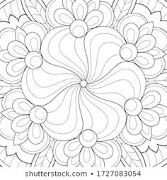 Cartera de fotos e imágenes de stock de Nonuzza | Shutterstock Heart Coloring Pages, Quilling Designs, Color 2, 2 Colours, Abstract Backgrounds, Adult Coloring, Stencils, Holidays, Floral