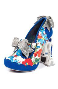 Irregular Choice The Floral Artoo Shoe in Blue