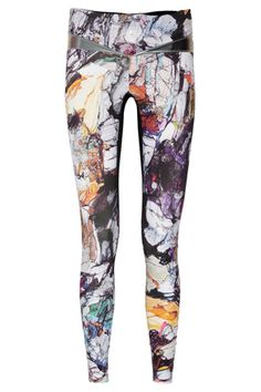 Lucas Hugy Krypton Printed Stretch Leggings. OMG my workout clothes typically come in black, white and gray but I think I'd be willing to make an exception for these!!