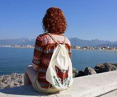Big Drawstring Backpack, Fox, Backpacks, Bags, Etsy, Vintage, Fashion, Handbags, Moda