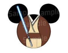 Items similar to Jedi inspired Character Mouse head DIGITAL printable file DIY on Etsy Disney Mickey Ears, Mickey Mouse Head, Disney Tees, Disney Star Wars, Disney Diy, Disney Magic, Disney Cruise Door, Disney Addict, Disney Scrapbook
