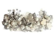vintage bridal tiara, vintage inspired tiara / band, statement piece. £180.00, via Etsy.