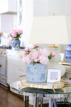 Summer Decorating Tips using Tassels, Pink + Blue - Randi Garrett Design