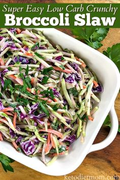 Do you want a quick low carb recipe that won't heat up your house? Our Crunchy Broccoli Slaw is super easy to make in about 5 minutes and is keto diet friendly. Super Easy Low Carb Crunchy Broccoli Slaw Carlile Soldo carlilesoldo food Do you want a Brocoli Slaw Recipes, Brocolli Slaw, Broccoli Cole Slaw, Broccoli Recipes, Cauliflower Recipes, Broccoli Slaw Dressing, Broccoli Slaw Salad, Cabbage Salad, Low Carb Brocolli Salad