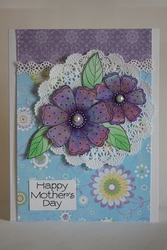 Mother's Day Card - Essential products for this project can be found on Crafting.co.uk - for all your crafting needs.
