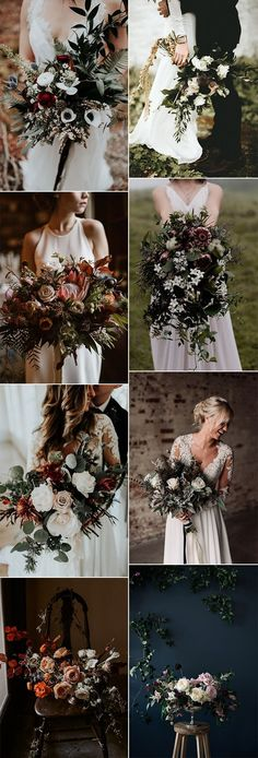 2018 trending moody wedding bouquet ideas