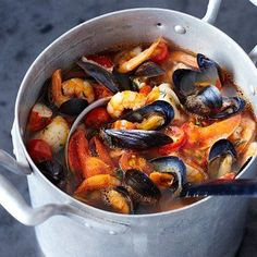 Bouillabaisse - We used the seafood medley from CostCo...and the soup came out great!! It was fun to try something new!!