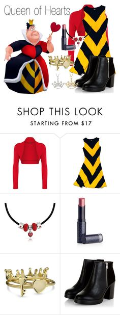 """Queen of Hearts~ DisneyBound"" by basic-disney ❤ liked on Polyvore featuring WearAll, Slater Zorn, Bling Jewelry, Lipstick Queen and DB Designs"
