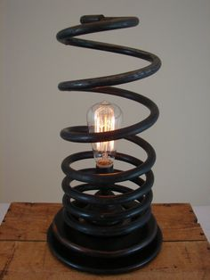 Upcycled Vintage Automotive Suspension Spring by BenclifDesigns