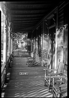 The Sunday porch/enclos*ure: shadows on 1935 Alabama porch, by W.N. Manning, Library of  Congress