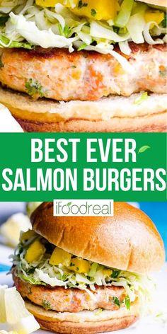 Healthy Potluck, Potluck Recipes, Healthy Meal Prep, Burger Recipes, Clean Recipes, Fish Recipes, Seafood Recipes, Healthy Dinner Recipes, Healthy Eating