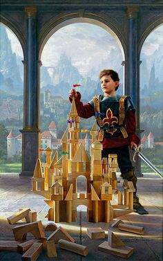 """""""Heir to the Kingdom""""  Heir to the kingdom, his ensign unfurled, King of the castle, in his own little world. Lord of the manor, he thoughtfully trains, Benevolent leader, wisely he reigns. Righteous defender, with courage he fights, Fearless in battle, for... Read More ›"""