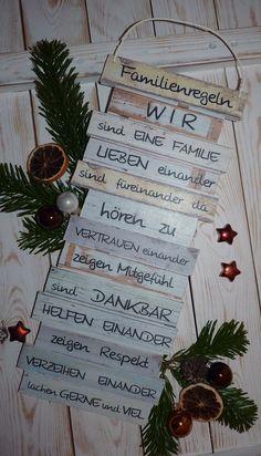 https://www.facebook.com/Puenktchenherz-1514083225528083/  und Besuch meinen Dawanda-Shop: http://de.dawanda.com/shop/Gifts-from-the-heart-by-Sunny  Dekoschild Familienregeln