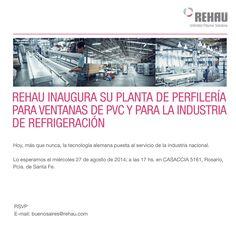 REHAU sigue apostando a la industria nacional. El miércoles 27 de agosto, nuestro cliente inauguró una nueva planta de perfilería, en la Ciudad de Rosario, provincia de Santa Fe.