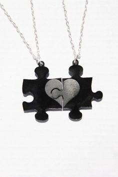 Missing Puzzle Piece necklace set. $12.50, via Etsy.