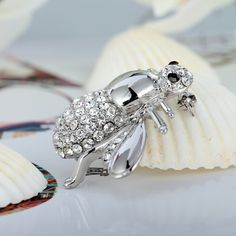 Silver Plated Bee
