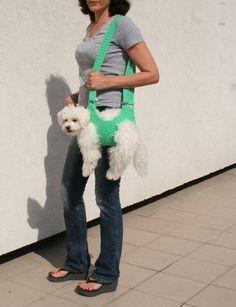 Pet carrier / Crochet dog carrier / BubaDog pet by BubaDog on Etsy Airline Pet Carrier, Dog Carrier, Sling Carrier, Dog Coat Pattern, Coat Patterns, Online Pet Supplies, Dog Supplies, Pet Sling, Pet Carriers