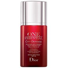 Dior One Essential City Defense Toxin Shield Broad Spectrum Spf 50 (€55) ❤ liked on Polyvore featuring no color