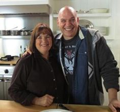 Look who stopped by Ina's kitchen!!! Cleveland's Own Michael Symon the Iron Chef himself!