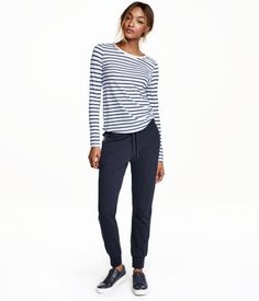 Sweatshirtbyxor | Mörkblå | Ladies | H&M FI