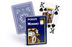 Cartes Modiano 4 index (bleu) - Pokeo.fr - Jeu de 52 cartes Modiano 100% plastique 4 index de couleur bleue.