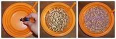 Set your table for cereal (before the kids wake up). Put a few drops of food color into bottom of bowl. Fill bowls with cereal. When your family is up to the table, fill (or let them fill) bowls with milk. Watch their faces as their milk changes color! My kids now try to guess who will get what color! So fun!