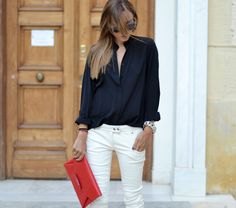 Red-black-white | STYLEHEROINE