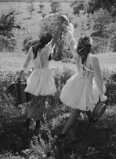 """vogue-at-heart:Phoebe Tonkin & Teresa Palmer in """"Lost In Time"""" for Vogue Australia, March 2015Photographed by Will Davidson"""