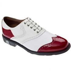 This is a Footjoy Icon Golf Shoe  More on how to choose golf clothes: http://attireclub.org/2014/02/20/tips-choosing-golf-clothes/ #fashion #clothes #shoes #golf #golfingshoes #sports #sport #golf #shoes #mensshoes #function18