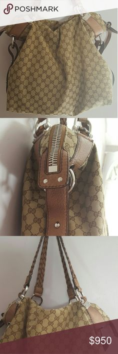 Authentic Bamboo Gucci Bag In pristine condition,  hardly worn kept in a dust bag. Extra large shoulder bag/ comes with a dust bag. Gucci Bags Shoulder Bags