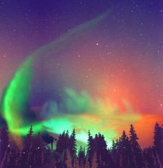 Image detail for -the aurora borealis photographed in fairbanks alaska in september 2001 ...