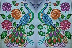 Rooster Cross Stitch, Cross Stitch Animals, Cross Stitch Flowers, Cross Stitch Embroidery, Cross Stitch Patterns, Filet Crochet, Loom Beading, Crafts, Peacocks