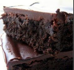 Chocolate Ganache Brownie-jeanettespatisserie.blogspot.com--For folks who are SERIOUS about their chocolate!  Come on, you know you want one!