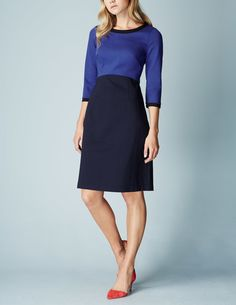 Louise Ponte Dress WH979 Smart Day at Boden