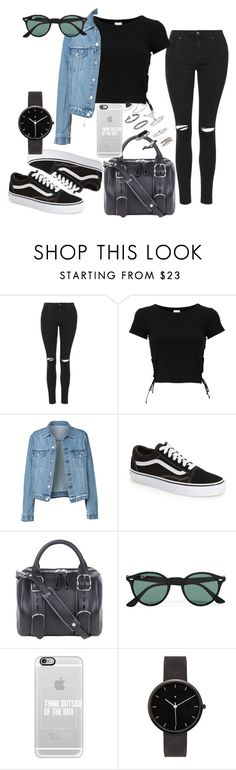 """Untitled #304"" by charlotte-down on Polyvore featuring Topshop, Vans, Alexander Wang, Ray-Ban, Casetify and I Love Ugly"