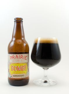 Prairie Artisan Bomb is just that. The Bomb! A Double Imperial Stout that's a massive 14% ABV, that is so delicious. The aroma is huge roasted malts and chile peppers. The taste is full bodied, smooth with just a touch if the chiles with no hint of the high ABV. It's been a long time since I gave 5 stars to a beer, but this one deserves it. If you can find it, buy it.
