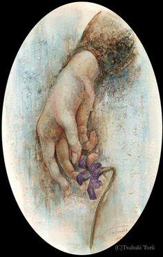 鳥居椿 「Viola」 2011 ペン、アクリル/紙 個人蔵