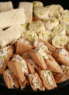 Fancy Tea Sandwiches: Tarragon Chicken Salad and More | Celebration Generation: Food, Life, Kitties!