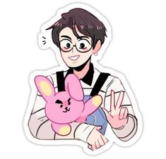 Bts stickers featuring millions of original designs created by independent artists. Pop Stickers, Tumblr Stickers, Jungkook Fanart, Bts Jungkook, Taehyung, Character Art, Character Design, Zeina, Cute Art Styles