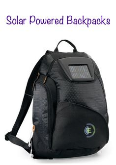 Solar powered backpacks.