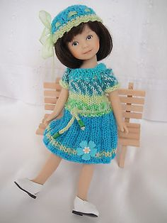 """Handknitted OUTFIT for Heartstring doll 8"""" (Dianna Effner) - New"""