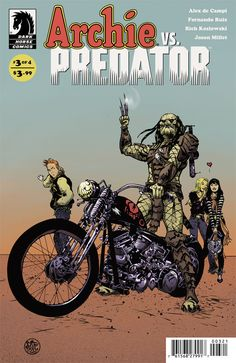 Preview: Archie Vs Predator #3,   Archie Vs Predator #3  Story: Alex de Campi Art: Fernando Ruiz Cover: Gisele Lagace, Paul Pope, Kelley Jones Publisher: Dark Horse Publicat...,  #AlexdeCampi #All-Comic #All-ComicPreviews #ArchieVsPredator #Comics #DarkHorse #FernandoRuiz #GiseleLagace #KelleyJones #PaulPope #Previews
