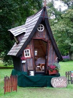 Now You Can Build ANY Shed In A Weekend Even If You've Zero Woodworking Experience! Start building amazing sheds the easier way with a collection of shed plans! Fairy Houses, Dog Houses, Play Houses, Garden Houses, Fairytale House, Crooked House, Building A Container Home, Backyard Sheds, Garden Sheds