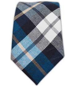 Crown Plaid - Serene Blue/Navy (Cotton Skinny) | Ties, Bow Ties, and Pocket Squares | The Tie Bar