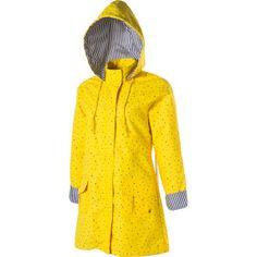 VINTAGE Reversible Hooded PVC Hooded YELLOW Rain Coat Slicker