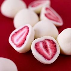 Skinny Frozen Yogurt Strawberry Bites