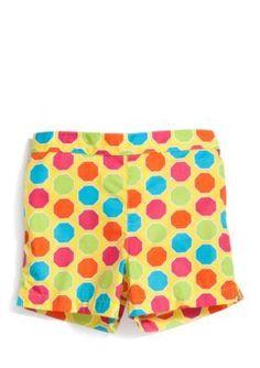 J Khaki   Dot Print Woven Shorts Toddler Girls